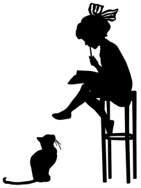 cat-silhouette-clip-art-4-girl-writes-with-cat