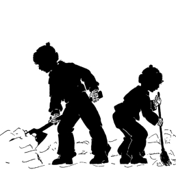 silhouettes-of-boys-7-7-shoveling-up-snow